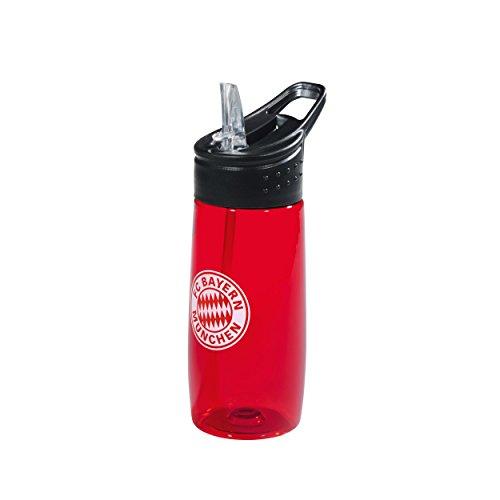 Borraccia trasparente rosso 0, 5L FC Bayern Monaco bottiglia, botella, bouteille, bottle FCB Munich