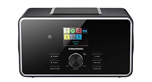 "Grundig DTR 6000 2.1 BT DAB+ WEB ""All-in-one\""-Internetradio mit Bluetooth, Multiroom und Empfang Schwarz"