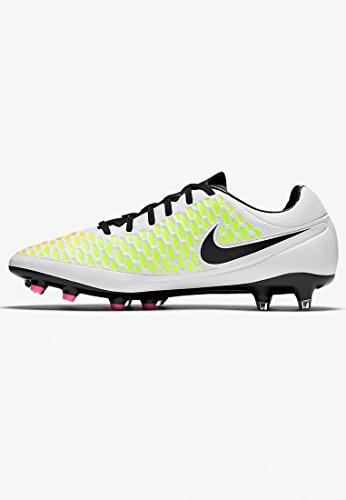 Nike Magista Orden Fg, Chaussures de Foot Homme Blanc Cassé - Blanco (Blanco (White/Black-Pink Blast-Volt))
