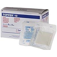 Topper jjts1052Swab, estéril, 6capas, 5cm de ancho, 5cm Longitud (Pack de 45)