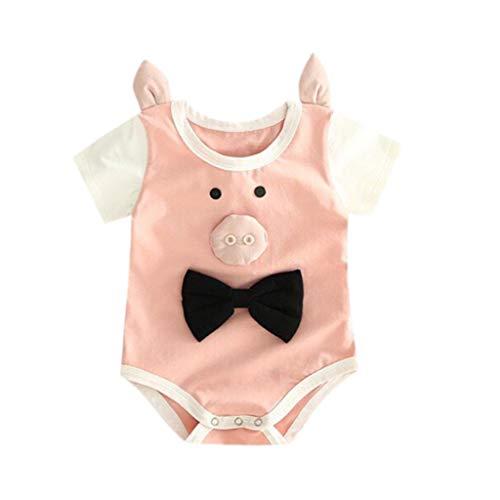 Mädchen, Unisex Baby Ärmellos Karikaturdruck Body Strampler Overall Jumpsuit Playsuit Kleidung ()