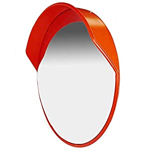 PrimeMatik - Convex traffic mirror safety security surveillance 60cm with wall fixing