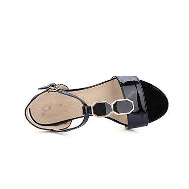 LFNLYX Donna Sandali Primavera Estate Autunno Comfort Novità materiali personalizzati similpelle Party & abito da sera informale Tacco a cuneo Beige rosa Black