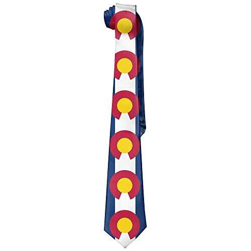 xcvgcxcvasda Mens USA Colorado State Flag Novelty Necktie Tie Mens Womens For Weddings Groomsmen Business Gifts