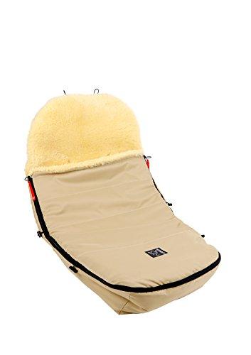 Preisvergleich Produktbild Kaiser Kinderwagenfußsack für alle Modelle der Marke Bugaboo und Joolz, Lammfell medizin, Sand
