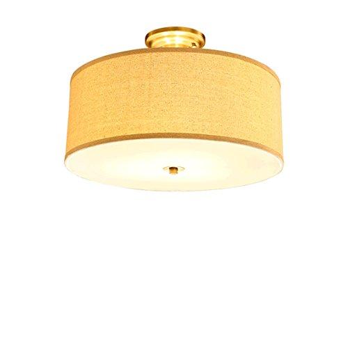 Stil Kuppel Licht (HZB Amerikanischen Stil Kuppel Licht Moderne Einfache Land Restaurant Lampe Warm Kreative Alle Kupfer Schlafzimmer Leselampe ( Size : 4lamp50*35cm ))