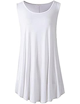 Camisetas sin mangas ,Koly Chaleco Camisetas y tops Sin Mangas Sólido Sayo Ocasionales Flojas Atractiva Swing...