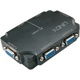 LINDY VGA Splitter 4 Port - bis 1920x1200, USB Powered Powered Splitter