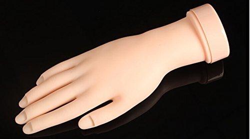 ewineverTM-1pcs-blandas-mviles-de-la-mano-del-arte-del-clavo-de-acrlico-extremidad-del-gel-Prctica-Formacin-Diseo-Modelo-Flex