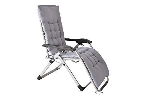 Xone poltrona paradise premium con cuscino imbottito incluso | sdraio reclinabile pieghevole paradise con soffice imbottitura spessa - portata massima 120 kg - textilene 2x2
