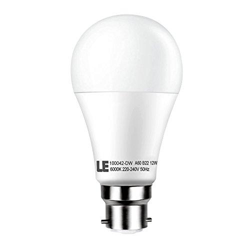 le 12w a60 b22 led bulbs 75w bulbs equivalent 1050lm daylight white 6000k bayonet led light bulbs