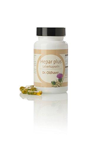 Dr. Oldhaver Hepar plus Leberkapseln (60 Kapseln) | Einzigartiger Wirkstoffkomplex mit Leber-Vitamin B2 (Riboflavin) mit Mariendistel Öl für die Leberfunktion | Hochdosiert & Premium Qualität vegan
