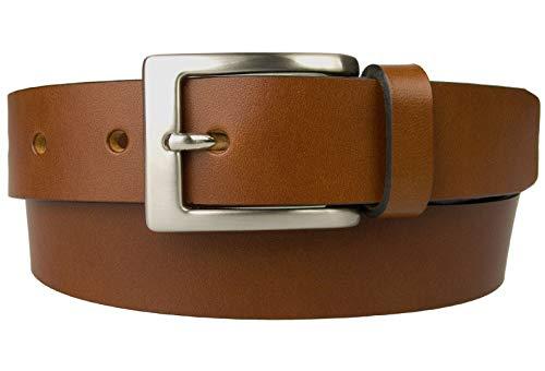 Belt Designs BD-0021-30-TAN-L Herren Gürtel - Hochwertiger Vollnarbenleder - 3 cm breit - Hergestellt In Wales - 96.5-107 cm Bräunen - Britischen Tan Leder