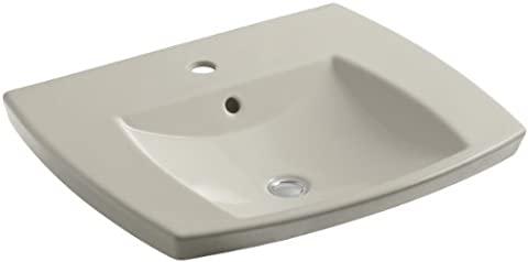 Kohler K-2381-1-G9 Kelston Self-Rimming Lavatory with Single-Hole Faucet Drilling, Sandbar