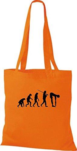 ShirtInStyle Stoffbeutel Jute Evolution Fitness Sport diverse Farbe orange