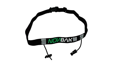 Nonbak portadorsal RACE BELT running triatlon trail running competiciones Black, Neon Green,Orange, Pink, Red (BLACK)