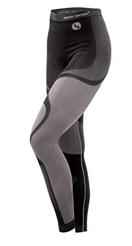 Sesto senso donna intimo termico pantaloni lunghi funzionale sottopantaloni leggings biancheria intima termoattivo (l, grigio)
