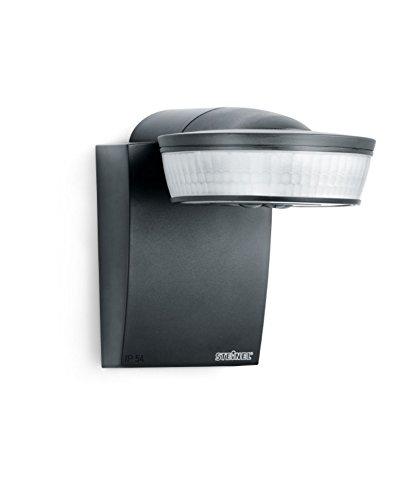 Steinel Infrarot-Bewegungsmelder sensIQ schwarz, 300°|20 m Sensor, 2500 W, Dauerlicht, Montage an Wand, Ecke oder Decke -