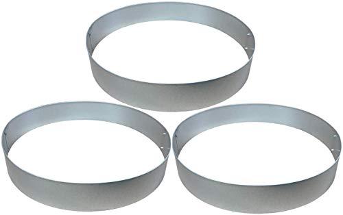 Rasenkanten Baumring Kreis aus Metall durchm. 75 cm x 12 cm - 3er Set