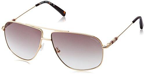 Tommy Hilfiger Gradient Square Men\'s Sunglasses - (7900 C3 Gdbr-34 60 S 60 Brown Color)