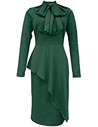1f7db4e5ab4f Krere Vestito da Donna con Vestito Aderente Decorato con Fiocco