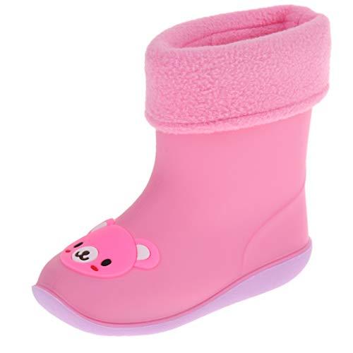 P PRETTYIA Botas de Lluvia Impermeable Zapatos de Bebés Juego Decorativos Regalos de Recién Nacidos - Rosa 5 años