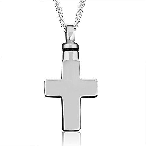 Pugster Ashes Cross Pendant Necklace Cremation Urn Memorial Jewellery