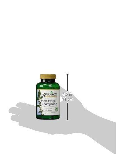 Swanson - L-Arginine PURE 850mg, 90 gélules végétales - 1700mg Double Dose - 3 Mois d'Approvisionnement - Complément Bio-Actif Végétarien, Végétalien, Vegan & Veg (L Arginine capsules)