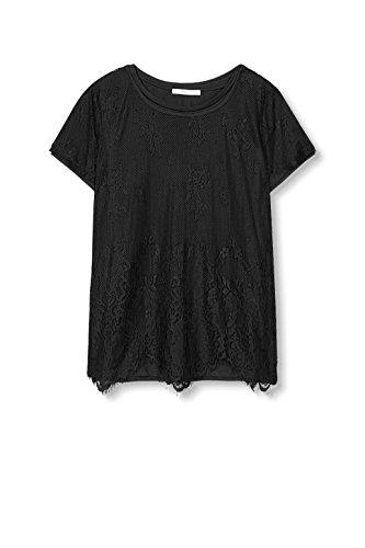 edc by ESPRIT Damen T-Shirt 116cc1k048 Schwarz (Black 001)