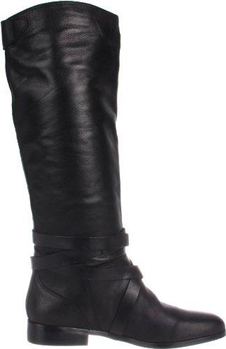 Dolce Vita Laila Damen Rund Leder Mode-Knie hoch Stiefel Black