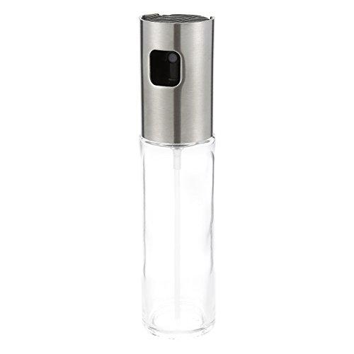 Aceite Mister–Pulverizador de aceite de cocina Ideal para barbacoa, Marinado, Grill, transparente dispensador de botella de cristal
