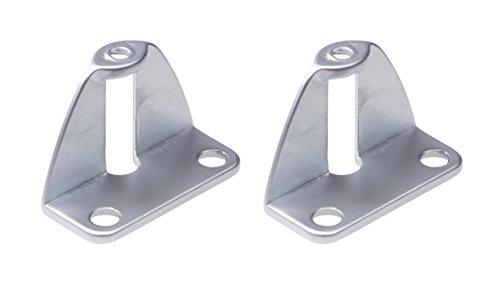 Gedotec Faltschiebetür-Befestigung Griffadapter zum Anschrauben an die Tür Innenseite | Falttüren-Griff für Türdicke 25 mm | Möbelgriff für Schiebetüren | 2 Stück - Adapter für Falttüren-Griffe