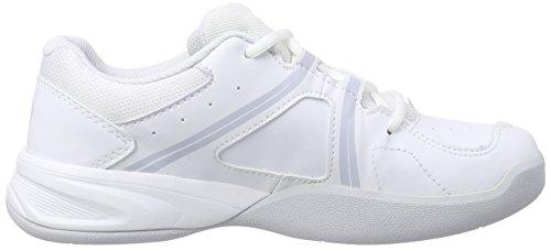 Wilson ENVY CARPET JUNIOR Unisex-Kinder Hallenschuhe Mehrfarbig (White/White/Pearl Gray)