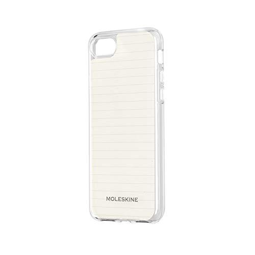 Moleskine - iPhone Hülle - Durchsichtige Hülle mit Papier - Schutzhülle Transparentes Etui mit Papiervorlagen für Cover iPhone 6 6S 7 8 - Durchsichtig