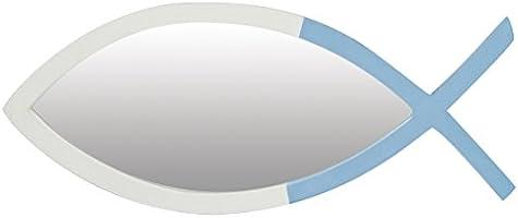 Générique 535  Miroir Poisson, Set de 3 Couleurs en Bois Multicolore 39x16x2 cm