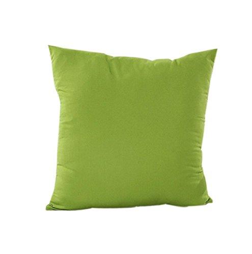 Rosennie Kissen Fall Baumwolle Leinen Kissen Abdeckung Streifen (Grün) -