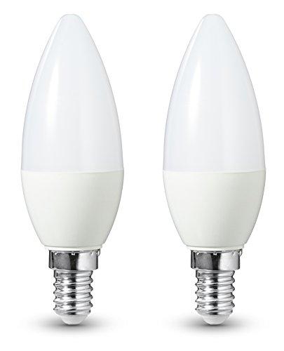 AmazonBasics - Bombilla LED E14, 5,5 W equivalente a 40 W, 470 lúmenes, no regulable - 2 unidades