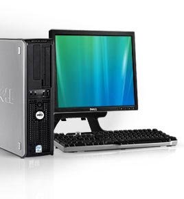 "Dell Desktop PC Computer Set - 17"" Flat Dell Brand LCD Monitor - Optiplex Series Desktop - 1GB - 80GB - Wireless Internet Ready WIFI - Keyboard - Mouse - Power Cord - Windows XP Pro SP3 Pre-installed"