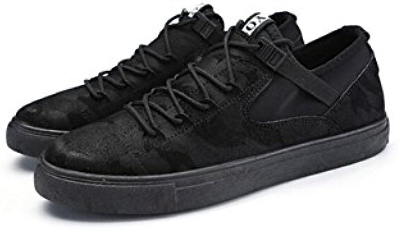 XUEQIN Saisonale Unisex Erwachsene Schuhe  Schwarze Leinwand Baseball Trainer Damen Herren (größe : EU41/UK7.5