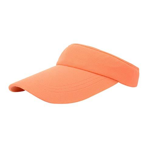 huichang Sports Visor Golf-schirmmütze Running Sunvisor, Damen Sonnenhut Einheitsgröße Tennis Mütze (Orange)