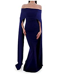 Kevan Jon Arch Ball Dress Delauney Scuba Colbalt