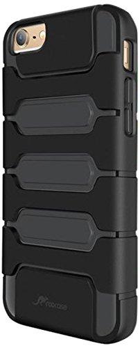 iPhone 6s Plus Case, roocase [Shock Resistant] iPhone 6 Plus Tough Hybrid PC / TPU [XENO Armor] Case Cover for Apple iPhone 6 Plus / 6s Plus (2015), Black Black