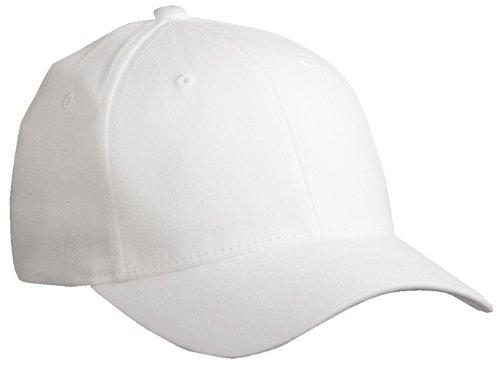 Myrtle Beach Uni Cap Original Flexfit, white, L/XL, MB6181 wh Flex-fit Cotton Twill Cap