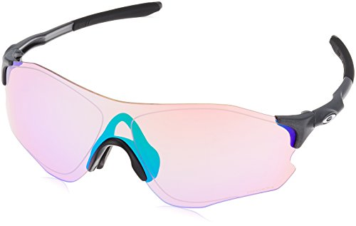 Oakley Mens EVZero Path Prizm Golf Asia Fit Sunglasses, Steel/Prizm Golf , One Size
