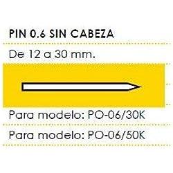 Cevik MCPIN0.6-15 - Pin 0.6 Sin Cabeza Largo 15 mm. Caja de 13 Millares