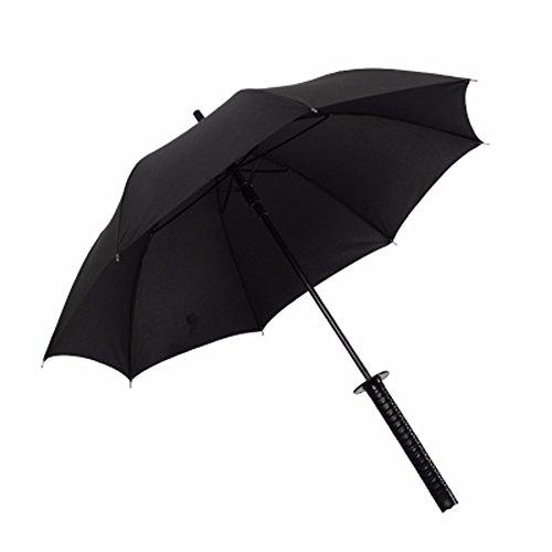 BBSLT Gli uomini del manico ombrello studente creativi ombrello Ombrello antivento nero anime Samurai ombrello 24-osso,automaticamente 8 osso