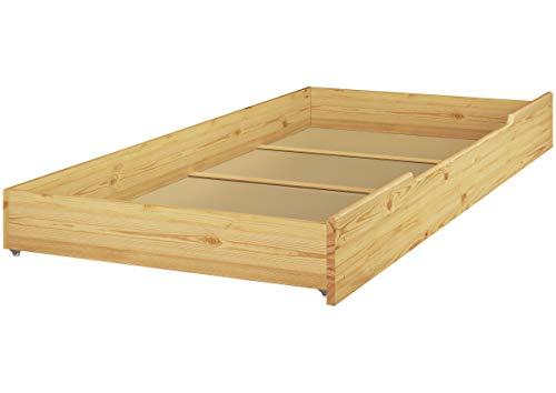 Erst-Holz® Etagenbett Kiefer Massivholz Stockbett 90x200 Hochbett Rollroste Bettkasten 60.10-09 S1 (Massivholz Etagenbett)