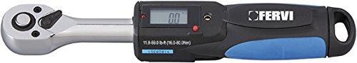 Chiave dinamometrica elettronica digitale luminosa e sonora fervi 0809/030
