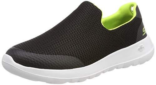 Skechers Herren Go Walk Max Slip On Sneaker, Schwarz (Black Lime Bklm), 45 EU Skechers Slip-on Sneaker