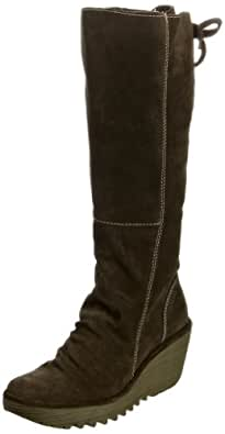 Fly London Women's Yust Suede Sludge Platforms Boots P500327002 3 UK